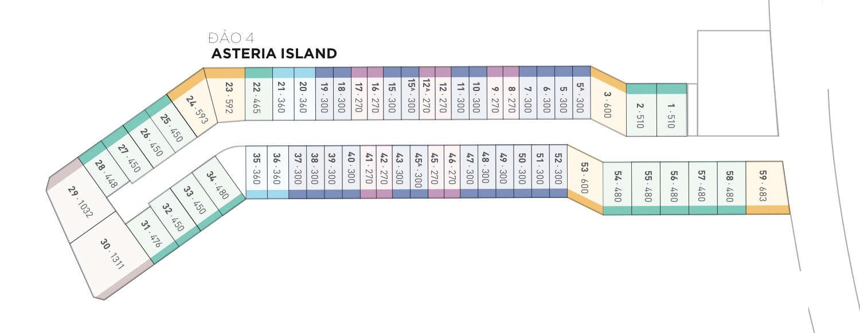 Mặt bằng biệt thự đảo Ecopark Grand - đảo Asteria