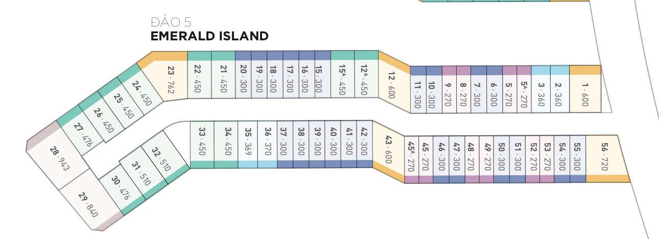 Mặt bằng biệt thự đảo Ecopark Grand - đảo Emerald