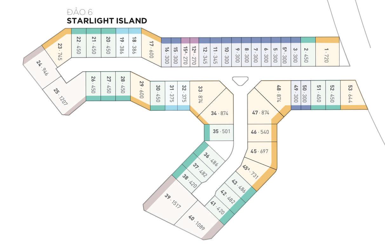 Mặt bằng biệt thự đảo Ecopark Grand - đảo Starlight
