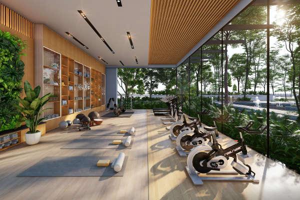 Phòng gym ở Haven Park Ecopark