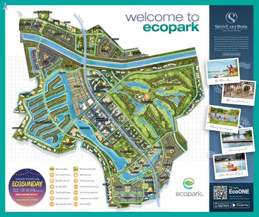 Bản đồ du lịch Ecopark